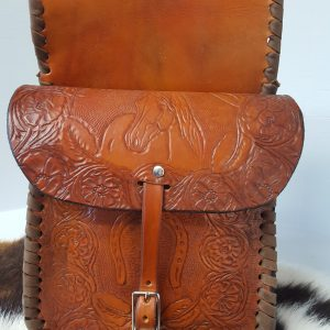 Tooled Saddle Bags