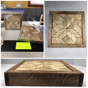 Hand Crafted Wood Quilt Puzzle