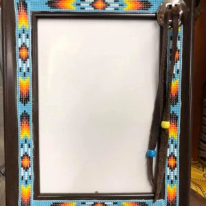 Bead And Wood Picture Frame