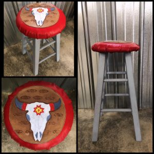 Cow Skull Bar Stool